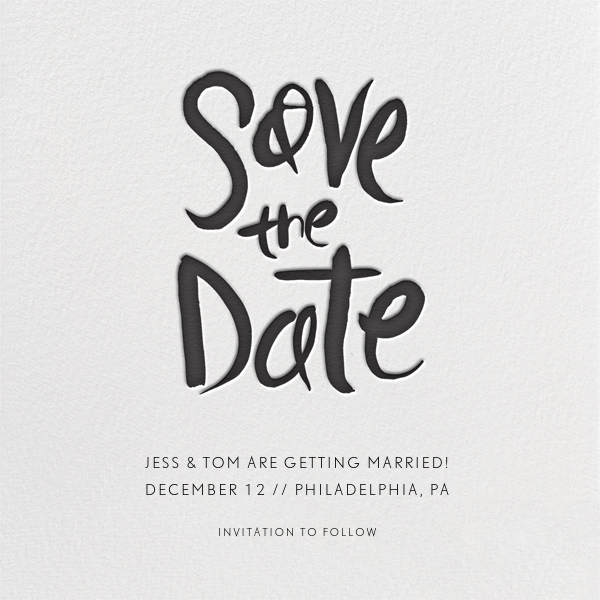 Ink Save The Date Paperless Post