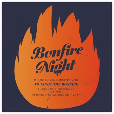 bonfire night invitations  paperless post, invitation samples